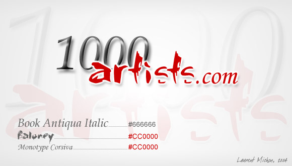 Logotype 1000 Artists.com, 2004